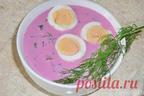 La okroshka sobre el kéfir con la remolacha poshagovyy la receta de la foto
