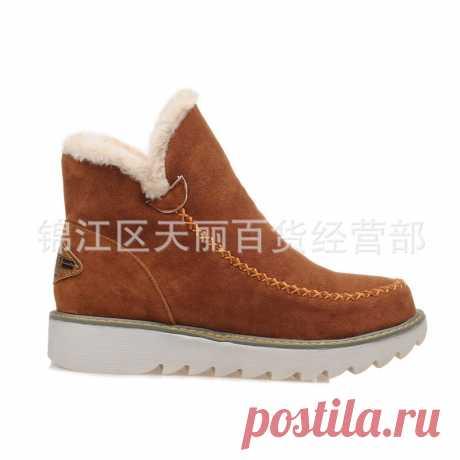 外贸大码女鞋_新款欧美外贸大码女鞋民族风磨砂雪地靴松糕跟套筒lxe-918 - 阿里巴巴