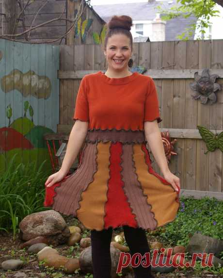 Sienna Dress Katwise inspired upcycled Sweater Dress от rosecanino