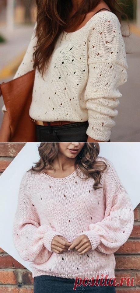 Узор для пуловера из хлопка