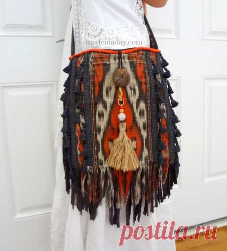 DIY Boho Tassel and Fringe Purse   Made in a Day