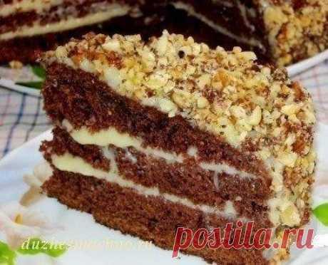 Шоколадный торт на кефире «Фантастика»  Очень простой и необычный рецепт вкусного торта. Приготовить сможет любой. Попробуйте обязательно!Ингредиенты: Для теста:●Кефир или простокваша -300 г●Сахар – 1 стакан●Яйца – 2 шт.●Растительное масло…