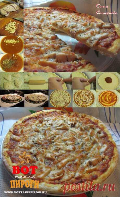 Рецепт пиццы на тонком тесте.Приготовление пиццы в домашних условиях.   ВОТ ТАКИЕ ПИРОГИ