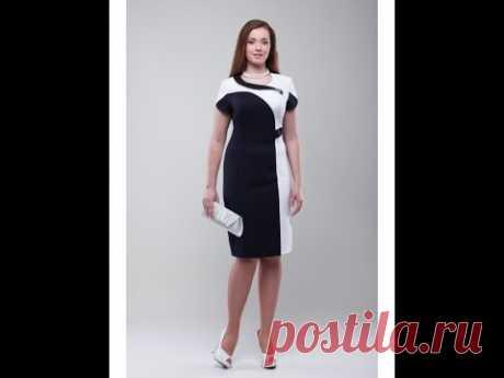 Платье комбинированное № 1