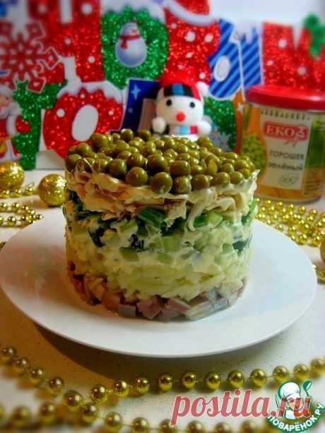 Салат с сельдью, огурцом и горошком – кулинарный рецепт