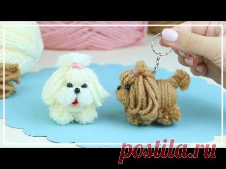 Самая милая маленькая собачка из ниток - ЛЕГКО!