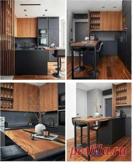 Небольшая современная кухня в стиле лофт!