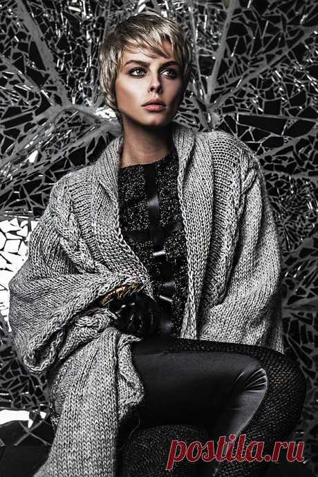 Тёплые фантазии вязаной моды: 55 экстравагантных и эффектных нарядов