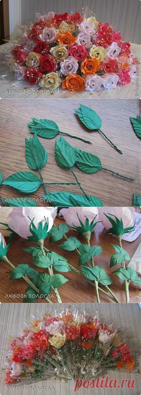Делаем листочки для роз   Конфетный рай