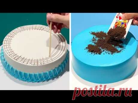 Быстрый и простой учебник по украшению торта, как профессионал | самое удовлетворительное шоколадное видео | так вкусно