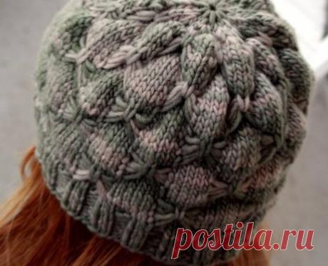 Красивые шапки спицами - svjazat.ru
