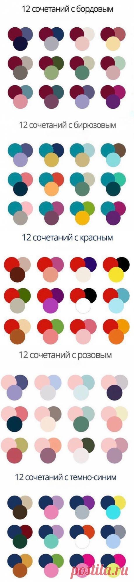 Удачные сочетания цветов.