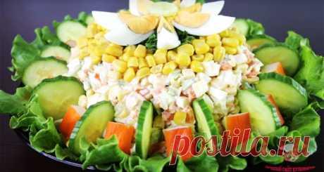 Красивый салат на Новый год - Лучший сайт кулинарии