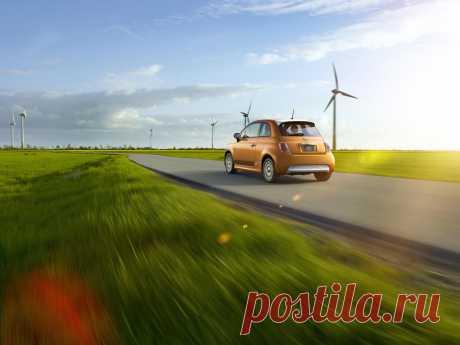 500px / 2013 Fiat 500e Windfarming по Midcoast студии