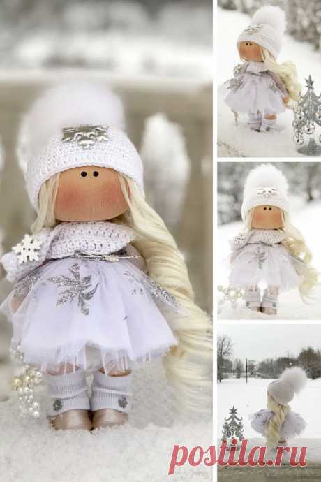 Winter Fabric Doll Christmas Rag Doll Textile Baby Doll