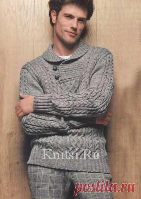 Вязание для мужчин / Пуловеры / Спицами
