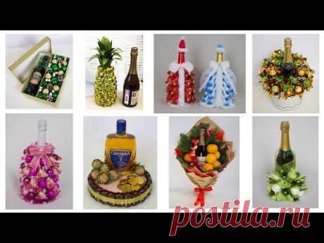 9 идей: Новогоднее оформление бутылки спиртных напитков  Поделки и подарки своими руками