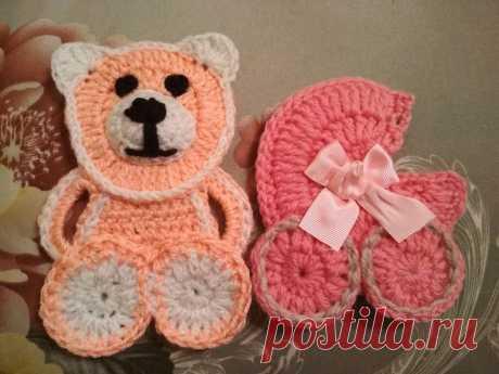 Вяжем игрушки для украшения детских пледов