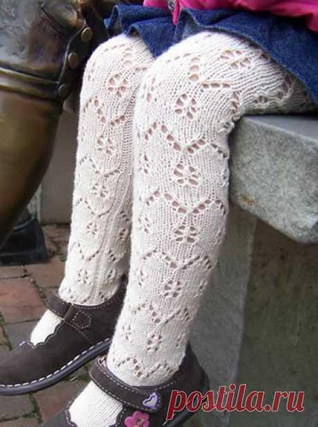6 вариантов вязаных колготок для девочек | Mnemosina вязание | Яндекс Дзен