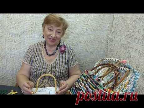 Сумка пляжная из пластиковых пакетов. Мастер-класс по вязанию крючком от О. С. Литвиной.