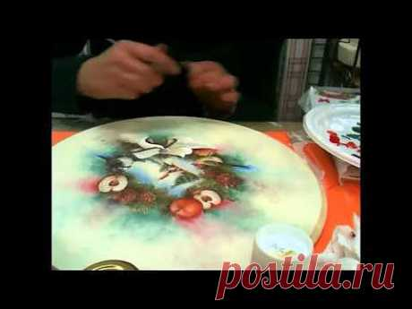Decoupage centrotavola natalizio.mp4 - YouTube