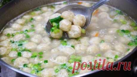 Суп с сырными шариками. Он настолько простой и легкий в приготовлении, что готовить его можно хоть каждый день. Получается очень и очень вкусный, а сырные