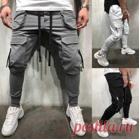 Men pants fashion jogger pants men fitness gyms pants for runners clothing autumn sweatpants Sale - Banggood.com
