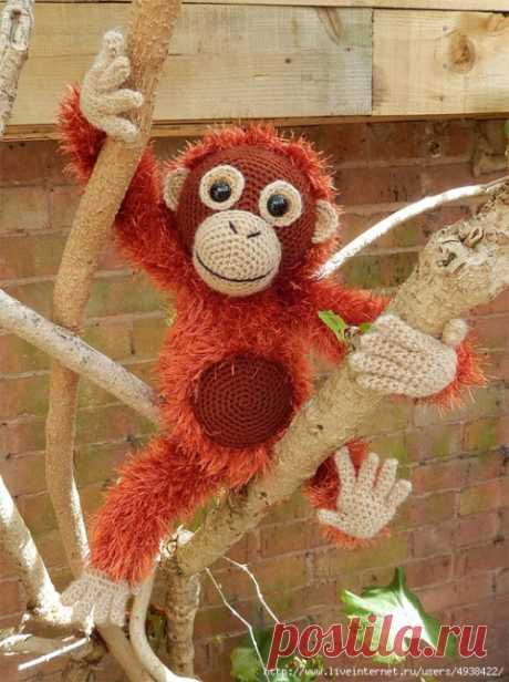 Вяжем крючком обезьянку - Орангутанга-Орвела / Вязание игрушек / ProHobby.su | Вязание игрушек спицами и крючком для начинающих, мастер классы, схемы вязания