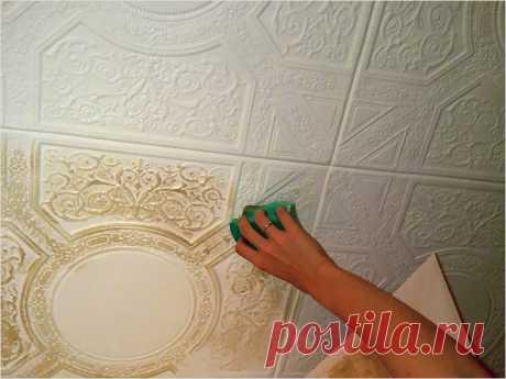 Можно ли клеить флизелиновые обои на потолочную плитку? - Отделка