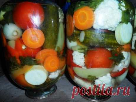 Mixed vegetables for the winter