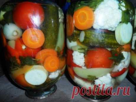 El surtido de hortalizas para el invierno