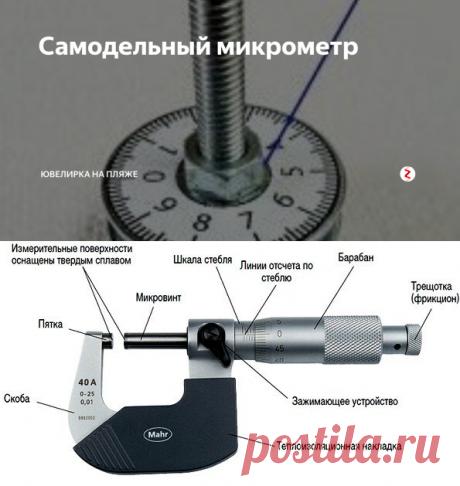 Самодельный микрометр | Ювелирка на пляже | Яндекс Дзен