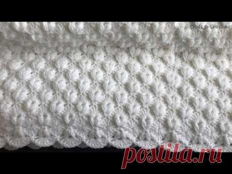 Легкое вязаное одеяло / детское одеяло крючком / ремесло и одеяло крючком