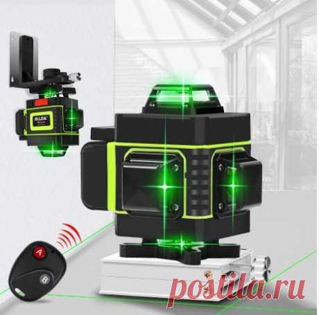 16-линейный 4d-лазер, самонивелирующийся горизонтальный и вертикальный супер мощный лазерный уровень с зеленым лучом