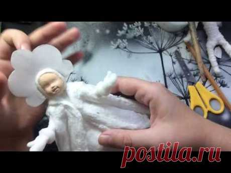 Ватная игрушка Снегурочка. МК ЧАСТЬ 2