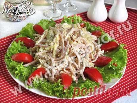 """Салат из курицы с сыром """"Праздничный"""" - кулинарный рецепт."""