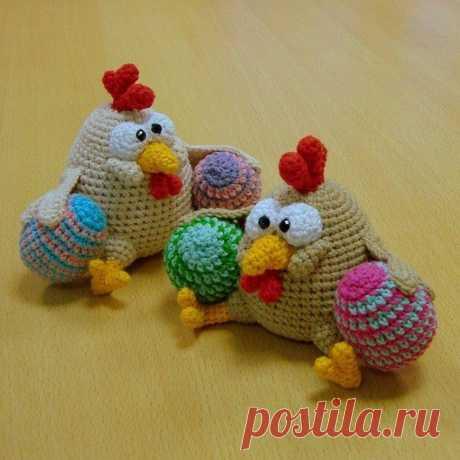 Пасхальная курочка с яйцом | Амигуруми