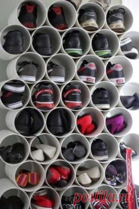 Как вам идея для хранения обуви?