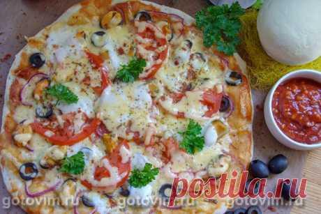 Пицца с мидиями.