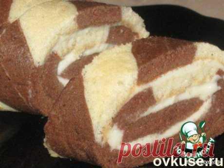 Полосатый рулет - Простые рецепты Овкусе.ру