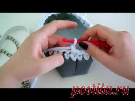 El hilado de punto y la piel. Preparamos el fondo de cuero para la labor de punto.