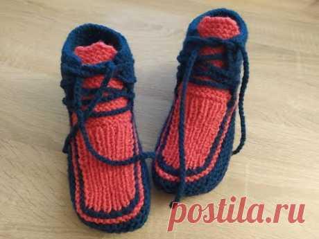 Вяжем кроссовки для взрослых