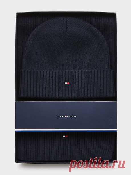Подарочный комплект: шарф и шапка | СИНИЙ | Tommy Hilfiger