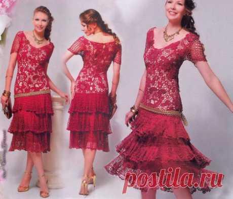 El vestido por el gancho, el encaje irlandés