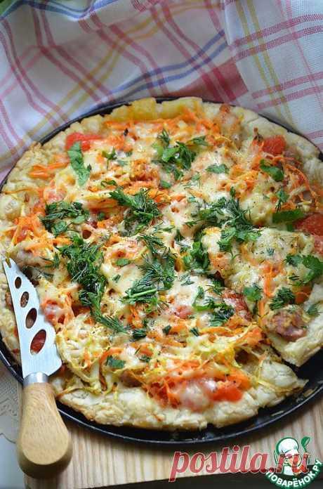 Пицца с курицей и грейпфрутом. Очень вкусная пицца!!! - ее стоит попробовать!!! Прекрасное сочетание вкусов! Автор: Шахзода