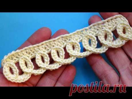 НОВИНКА - Объемная кайма  ПЕТЕЛЬКИ  Урок вязания крючком