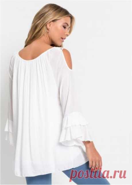 Блузка белый - Для женщин - bonprix.ru