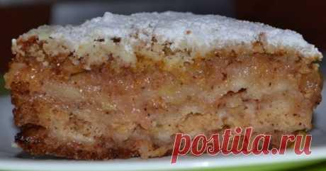 Насыпной яблочный пирог «Три стакана»