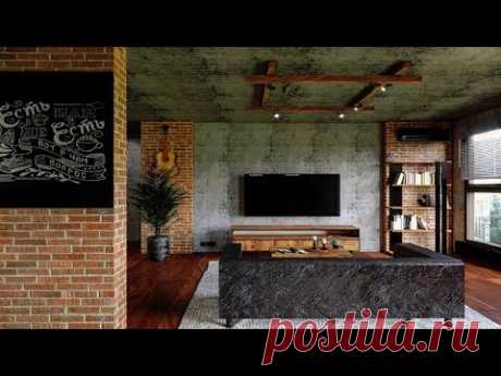 Брутальный Интерьер в Стиле Лофт для Холостяка 2021! Обзор Проекта Квартиры в Коммунарке!