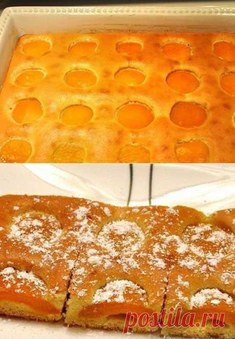 Как приготовить воздушный пирог с абрикосами - рецепт, ингридиенты и фотографии